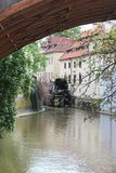 Stunning view of Prague. stock photo