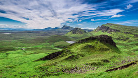Stunning view from Quiraing in Isle of Skye, Scotland, UK Royalty Free Stock Photos