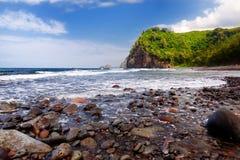 Stunning view of rocky beach of Pololu Valley, Big Island, Hawaii Royalty Free Stock Photography