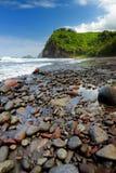 Stunning view of rocky beach of Pololu Valley on Big Island of Hawaii. USA Stock Photo