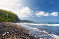 Stunning view of rocky beach of Pololu Valley on Big Island of Hawaii. USA Stock Image