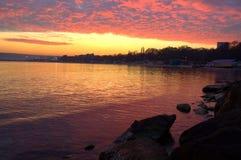 Stunning sunset seaside view  Stock Images