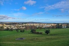 Stunning view of South Dublin with a golf course in foreground and houses in background taken from Stepaside