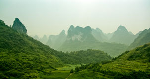 Stunning View to Karst Formations. Somewhere in China Royalty Free Stock Photo