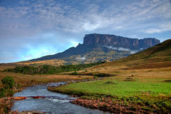 Stunning view to tepuy next to Roraima Stock Images