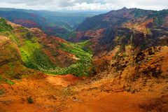 Stunning view into Waimea Canyon Stock Photo