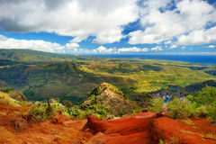 Stunning view into Waimea Canyon Stock Image