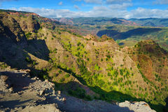 Stunning view into Waimea Canyon Royalty Free Stock Images