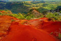 Stunning view into Waimea Canyon, Kauai Royalty Free Stock Photography