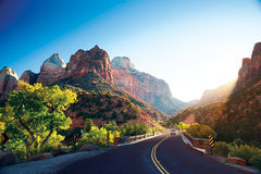 A stunning view of Zion Canyon royalty free stock photo