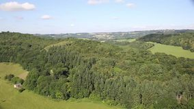 Stunning views beautiful English countryside the Wye Valley and River Wye between Herefordshire and Gloucestershire pan stock footage