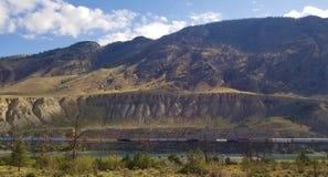 Stunning views of Canadian Rocky Mountains - British Columbia Canada stock photos
