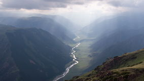 Stunning Views of the Mountain Gorge stock footage