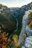 Verdon canyon, France. Stunning views over the Verdon canyon in France Royalty Free Stock Image