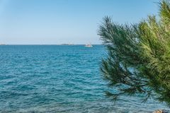 Stunning views of the skyline from the high sea shore. Croatia eco tourism.  stock images