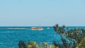 Stunning views of the skyline from the high sea shore. Croatia eco tourism.  stock image