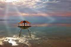 A stunning visual effect on the Dead Sea Royalty Free Stock Image