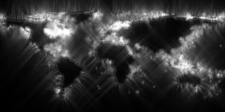 Stunning vivisualization of the world map using kirlian energy photography stock images