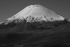 Stunning volcano caldera - volcan parinacota in chile Royalty Free Stock Photography