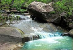 Stunning water creek and nature beauty, India Royalty Free Stock Image
