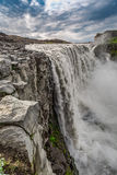 Stunning waterfall Dettifoss in Iceland Royalty Free Stock Photography