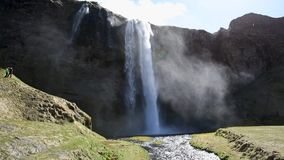 Stunning waterfall in Iceland stock video footage