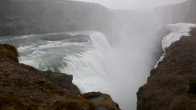 Stunning waterfall in Iceland stock video