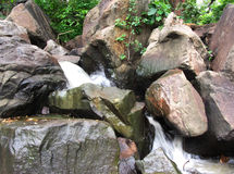 Stunning waterfall nature beauty, India Royalty Free Stock Photo