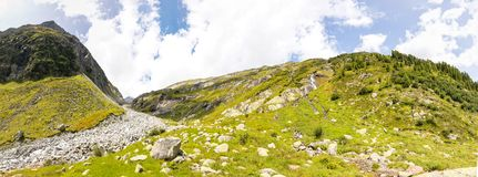 Salzplatten-Panorama Royalty Free Stock Photo