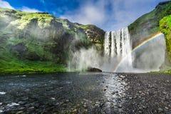 Stunning waterfall Skogafoss in Iceland Royalty Free Stock Photos
