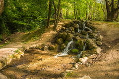 Stunning waterfalls in Naoussa, Northern Greece Royalty Free Stock Photography
