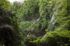 Stunning waterfalls in Naoussa, Northern Greece Royalty Free Stock Photo
