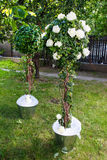 Stunning wedding decoration in the garden Royalty Free Stock Photo