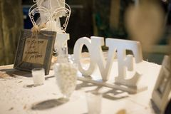 Memorable signs for an unforgettable wedding. Stunning wedding stock photography from Greece! Memorable signs for an unforgettable wedding royalty free stock photography