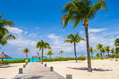 Stunning white beach in Turks and Caicos on Carribean Royalty Free Stock Images