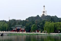 Sightseeing at Beihai Park, Beijing, China royalty free stock photos