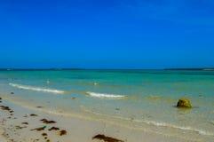 A stunning white sandy beach of Bantayan Island, Cebu, Philippines. White sandy beach of Bantayan Island, Cebu, Philippines Royalty Free Stock Photography