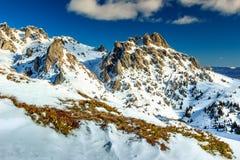 Stunning winter landscape with high mountains,Ciucas,Transylvania,Romania Stock Photo