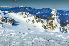 Stunning winter landscape with high mountains,Ciucas,Transylvania,Romania Royalty Free Stock Image