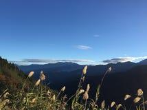 Stunning winter mountain view in Taiwan royalty free stock image