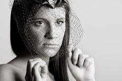 Stunning Woman with Veil Stock Photos