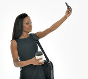 Stunning young African American business woman - selfie Stock Photos