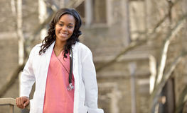Stunning young African American female healthcare worker Stock Photos