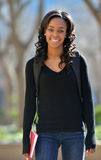 Stunning young African American female student on campus Royalty Free Stock Photography