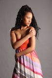Stunning young African American model in studio Stock Image