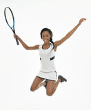 Stunning young African-American tennis player Stock Photography
