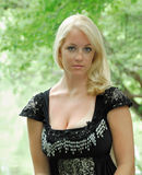 Stunning young blonde woman - vintage themed shoot Stock Photos
