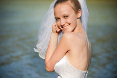 Stunning young bride Stock Photo