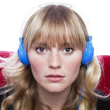 Stunning young girl with headphones Stock Image