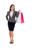 Stunning young woman carrying shopping bags Stock Photo
